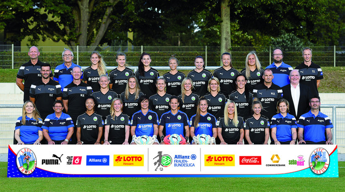 Teamfoto: 1. FFC Frankfurt (Damen), 2016/2017