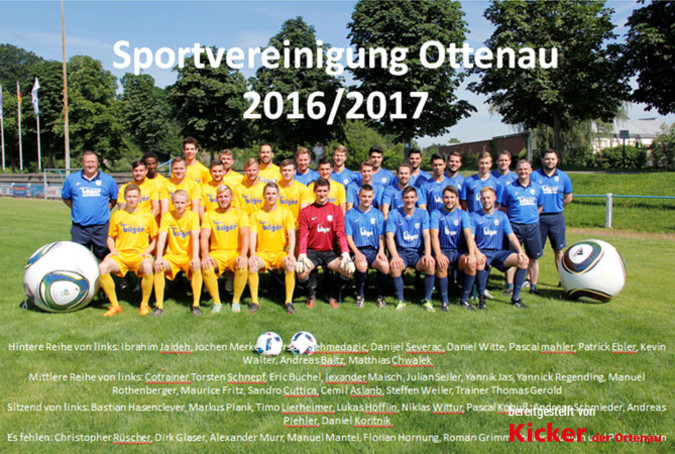 Teamfoto: SpVgg Ottenau (Herren), 2016/2017