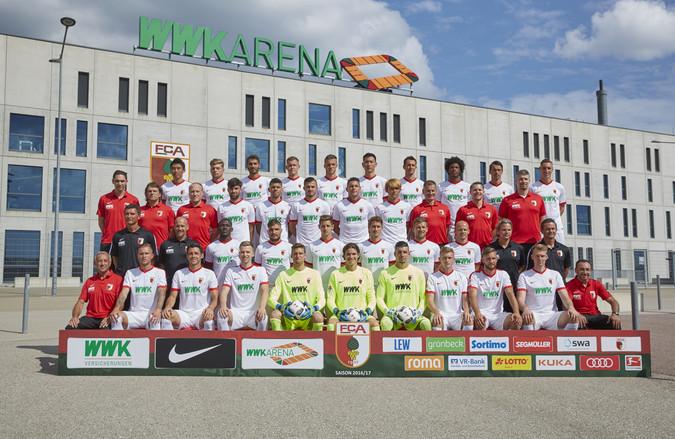 Teamfoto: FC Augsburg (Herren), 2016/2017