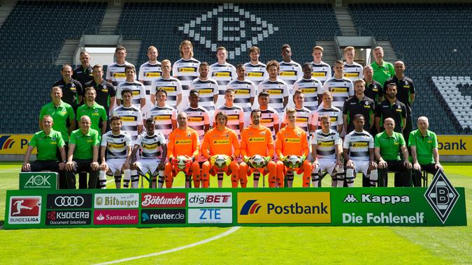Teamfoto: Borussia Mönchengladbach (Herren), 2016/2017