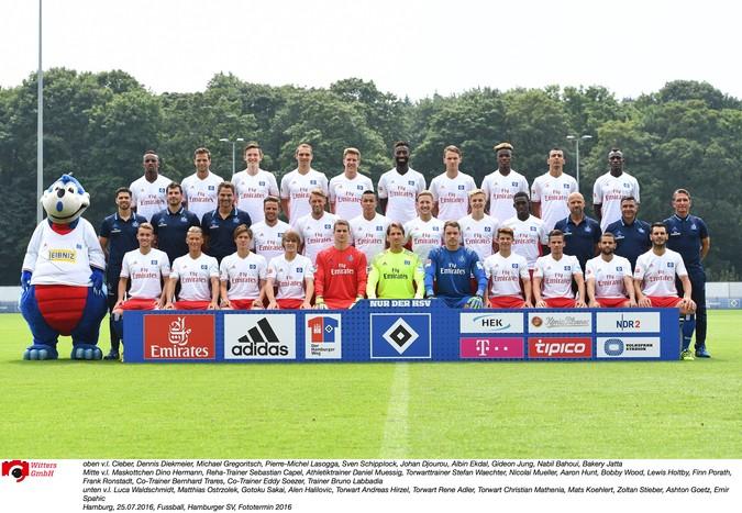 Teamfoto: Hamburger SV (Herren), 2016/2017
